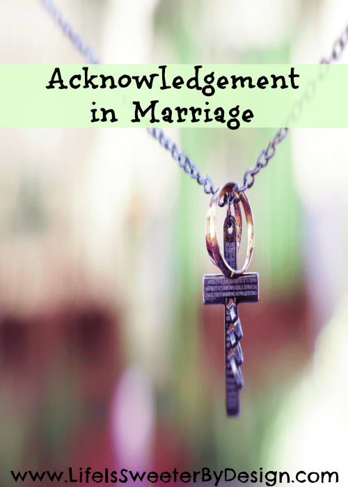 Acknowledgement in Marriage