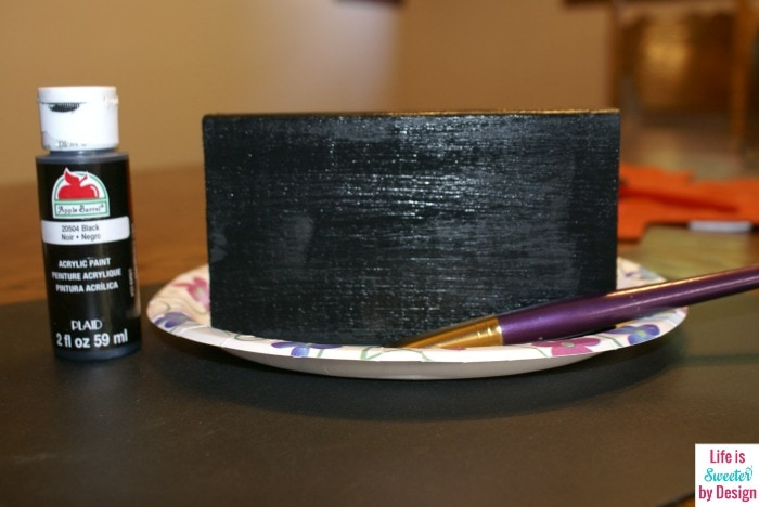 Black Paint Boo Craft