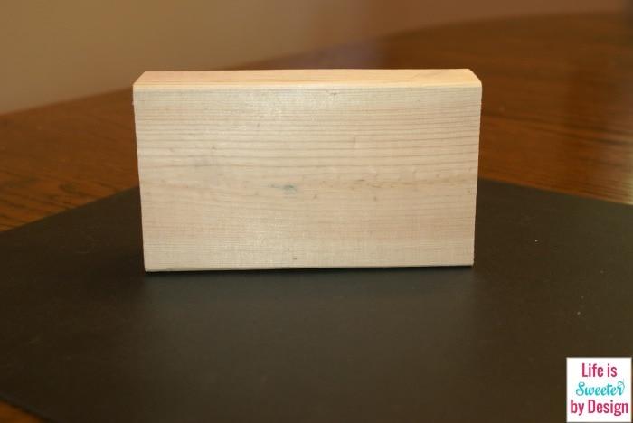 Plain wood block Boo Craft