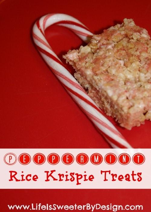 Candy Cane Crunch Krispie Treats Recipe — Dishmaps