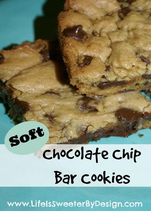 Easy Chocolate Chip Bar Cookies