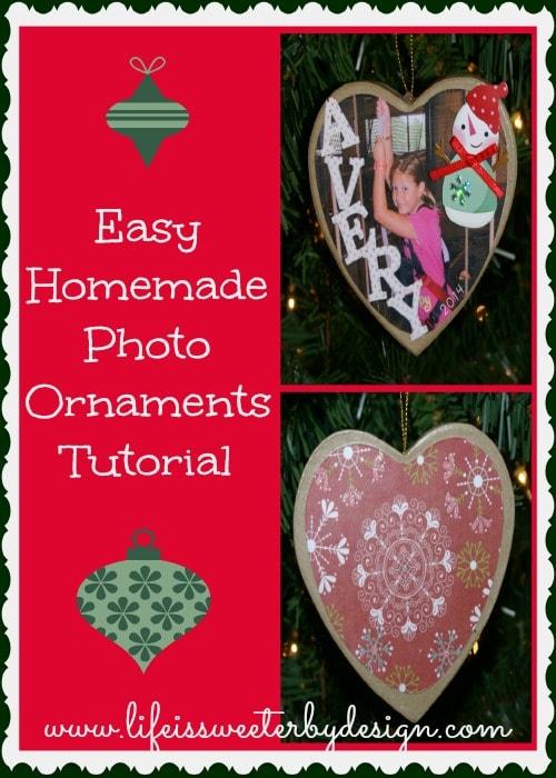 Homemade Photo Ornament Tutorial