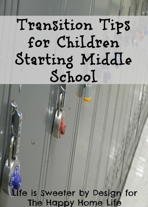 Transition Tips for Children Starting Middle School
