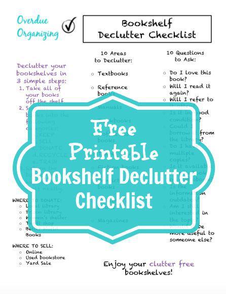 Free-Printable-Bookshelf-Declutter-Checklist